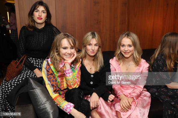 Jeanne Damas Suki Waterhouse and Poppy Jamie wearing ALEXACHUNG attend Alexa Chung's CHUNGSGIVING dinner to celebrate Thanksgiving and the launch of...