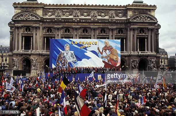 Jeanne d'Arc Celebration With JeanMarie Le Pen in Paris France on May 01 1996