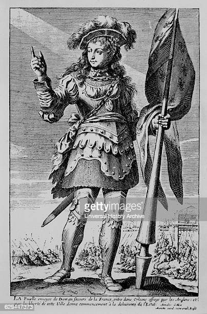 Jeanne d'Arc or Joan of Arc French Saint and National Heroine Engraving by Mariette circa 1600