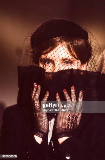 Jeanne de Berg, ou Catherine Robbe-Grillet, auteur, le 13 décembre 1975 à Paris, France.