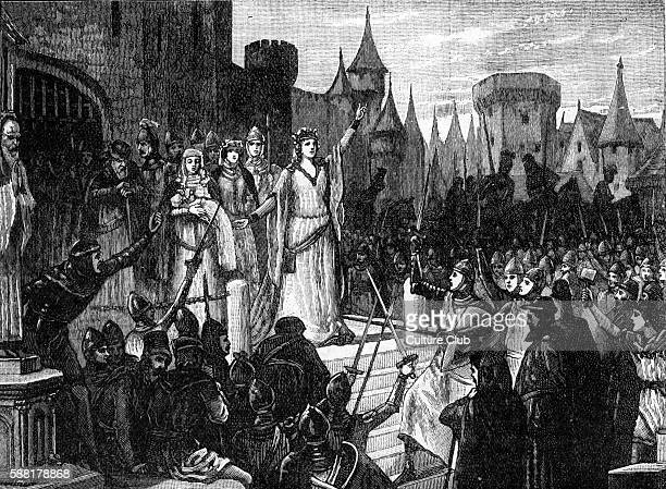 Jeanne de Montfort inciting the people of Rennes to resist King Philippe VI of France at the beginning of the Hundred Years War 1341 Also known as...