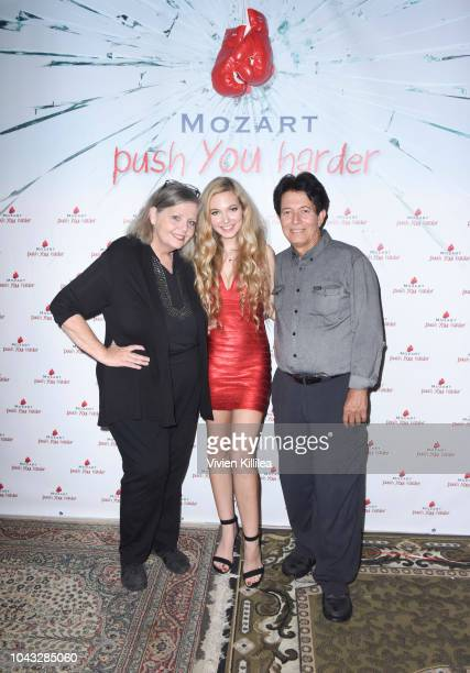 Jeanne Dee Mozart and Gar Reyna attend Mozart PUSH YOU HARDER Release Event on September 29 2018 in Westlake Village California