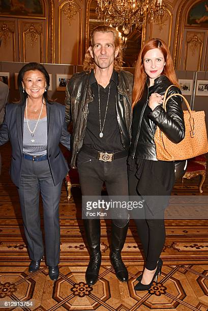 Jeanne dÕHauteserre Ale de Basseville and Egla Harxhi attend the Massimo Gargia's Photos of Celebrities Exhibition at Mairie du 8eme Paris Fashion...