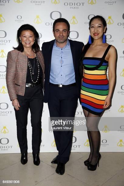 Jeanne D'Hauteserre Laurent Amar and Mi Kwan Lock attend Dessiner L'Or et L'Argent Odiot Orfevre Exhibition Launch at Musee Des Arts Decoratifs on...