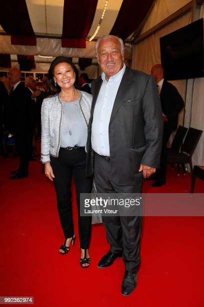 Jeanne D'Hautesserre and Marcel Campion attend 'La Femme dans le Siecle Waman in the Century' Dinner at Jardin des Tuileries on July 5 2018 in Paris...