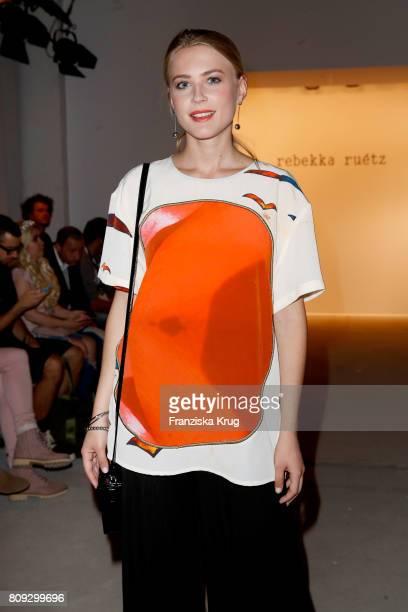 Jeanne Goursaud attends the Rebekka Ruetz show during the MercedesBenz Fashion Week Berlin Spring/Summer 2018 at Kaufhaus Jandorf on July 5 2017 in...