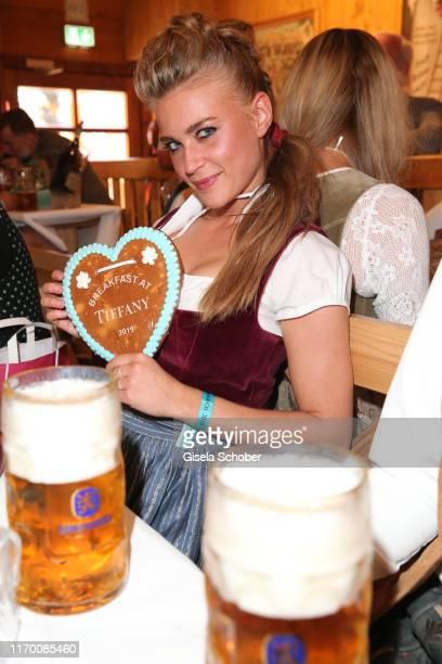 Jeanne Goursaud during the Breakfast at Tiffany at Schuetzen Festzelt at the Oktoberfest opening on September 21 2019 in Munich Germany