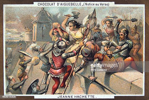Jeanne Hachette defends Beauvais Jeanne Laine known as Jeanne Hachette saved the city in 1472 from the forces of Charles the Bold of Burgundy...
