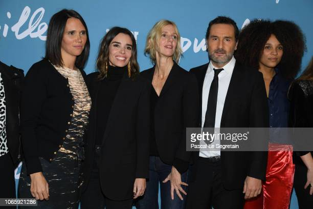 Jeanne Herry Elodie Bouchez Sandrine Kiberlain Gilles Lellouche and Stefi Celma attend Pupille Premiere at Cinema Pathe Beaugrenelle on November 27...