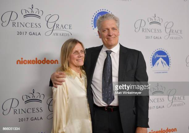 Jeanne Johnson Clancy Brown attends the 2017 Princess Grace Awards Gala Kick Off Event with a special tribute to Stephen Hillenberg at Paramount...