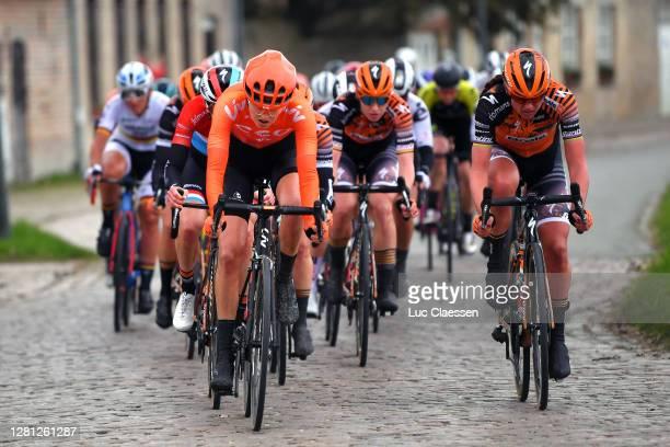 Jeanne Korevaar of The Netherlands and Team CCC - Liv / Chantal Van Den Broek - Blaak of The Netherlands and Boels Dolmans Cycling Team /...