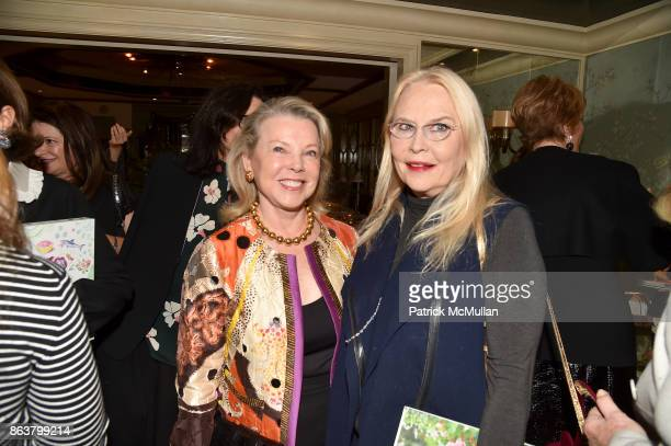 Jeanne Lawrence and Cornelia Bregman attend the launch of Second Bloom Cathy Graham's Art of the Table hosted by Joanna Coles and Clinton Smith at...