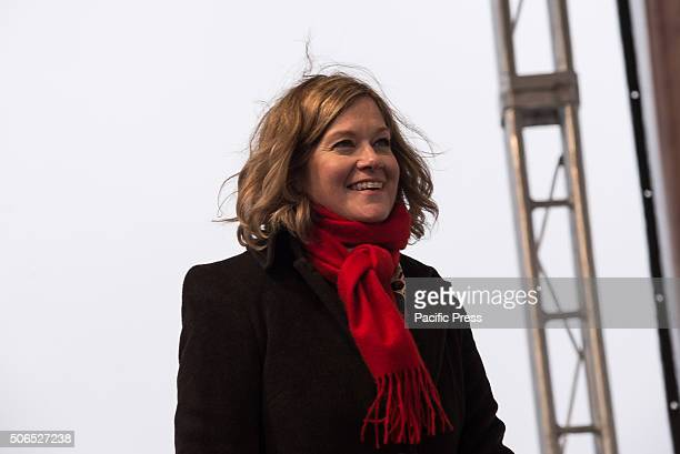 Jeanne Mancini President of the March for Life Education and Defense Fund speaks at the rally preceding the 'March for Life' Tens of thousands of...