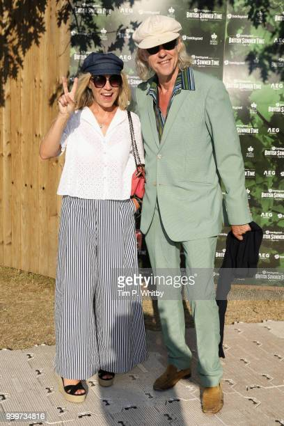 Jeanne Marine and Bob Geldof attend as Barclaycard present British Summer Time Hyde Park at Hyde Park on July 15 2018 in London England