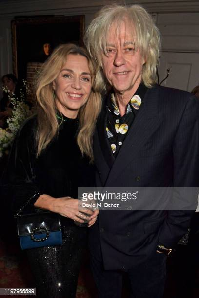 Jeanne Marine and Bob Geldof attend the Charles Finch CHANEL PreBAFTA Party at 5 Hertford Street on February 1 2020 in London England