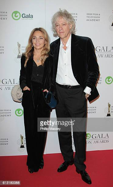 Jeanne Marine and Bob Geldof attend the IFTA Gala Television awards at on October 7 2016 in Dublin Ireland