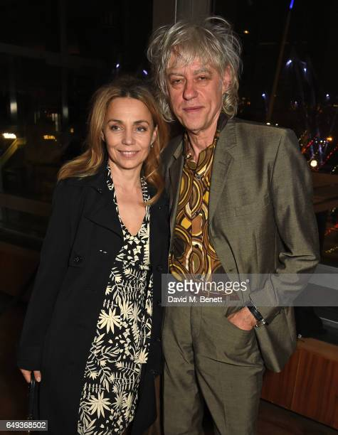 Jeanne Marine and Bob Geldof attend the press night after party for The Old Vic's production of 'Rosencrantz Guildenstern Are Dead' at The Skylon on...