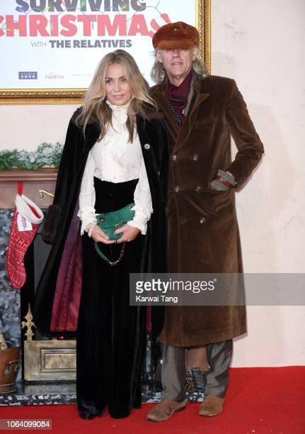 Jeanne Marine and Bob Geldof attend the World Premiere of Surviving Christmas With The Relatives at Vue West End on November 21 2018 in London England
