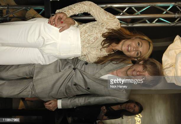 Jeanne Marine and Bob Geldof during Tiffany and Co Host Private Screening of Sketches of Frank Gehry for the Launch of the Frank Gehry Collection...