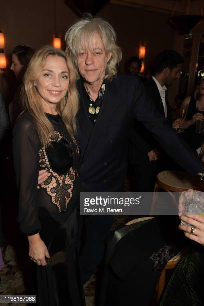 Jeanne Marine and Bob Geldof pose the Netflix BAFTA after party at Chiltern Firehouse on February 2 2020 in London England