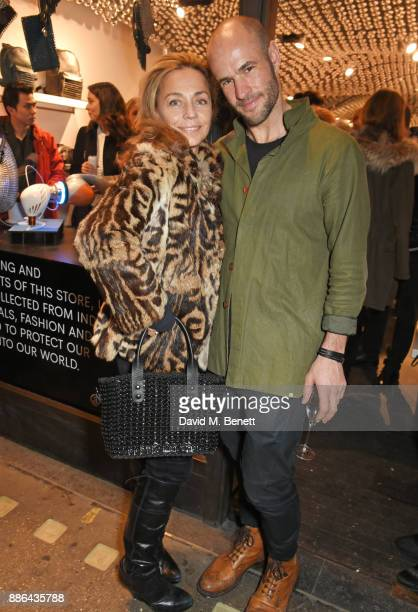 Jeanne Marine and Cameron Saul attend the opening of the BOTTLETOP flagship store on Regent Street on December 5 2017 in London England