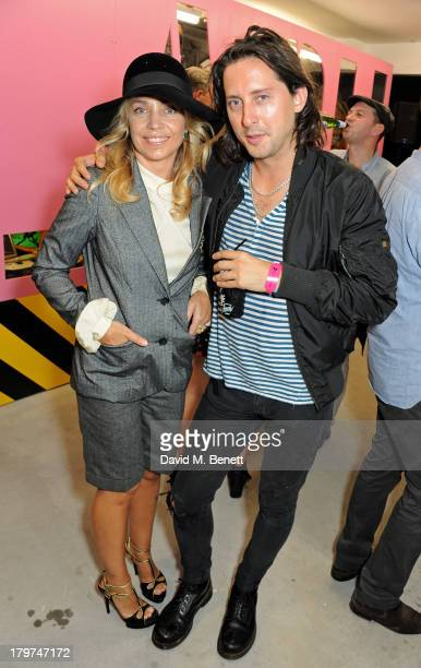 Jeanne Marine and Carl Barat attend the launch of 'Black Market Clash' an exhibition of personal memorabilia and items curated by original members of...
