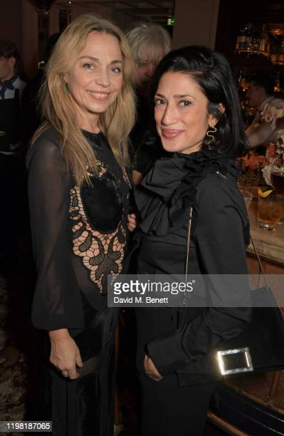 Jeanne Marine and Fatima Bhutto pose the Netflix BAFTA after party at Chiltern Firehouse on February 2 2020 in London England
