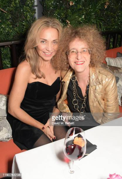 Jeanne Marine and guest attend the launch Party of The Biltmore Mayfair LXR Hotels Resorts and The Betterment by Jason Atherton on November 26 2019...