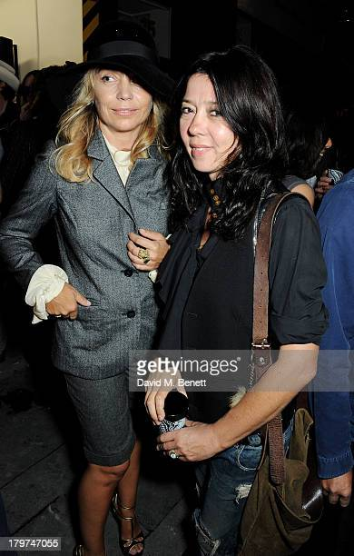 Jeanne Marine and Katy England attend the launch of 'Black Market Clash' an exhibition of personal memorabilia and items curated by original members...