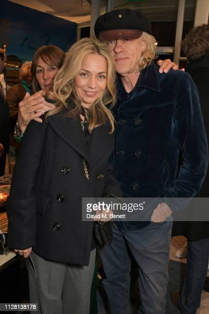 Jeanne Marine and Sir Bob Geldof attend the Bell Hutley Homeware Collection launch at Baar Bass on February 28 2019 in London England