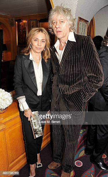 Jeanne Marine and Sir Bob Geldof attend the Charles Finch and Chanel PreBAFTA cocktail party and dinner at Annabel's on February 8 2013 in London...