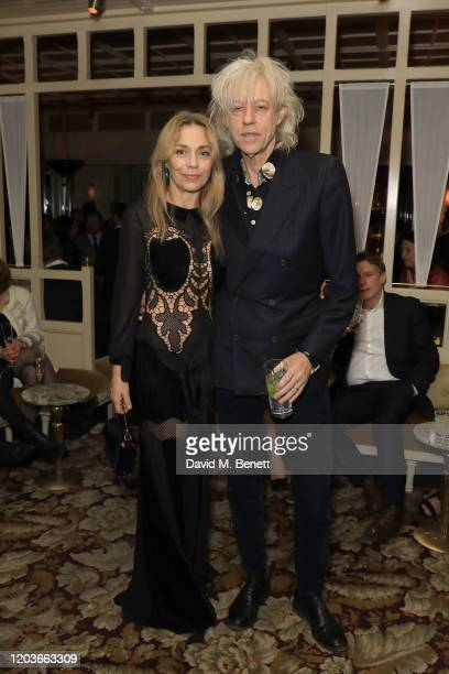 Jeanne Marine and Sir Bob Geldof attend the Netflix BAFTA after party at Chiltern Firehouse on February 02 2020 in London England