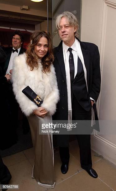 Jeanne Marine and Sir Bob Geldof attend the Royal Rajasthan charity Gala on November 9 2009 in London England