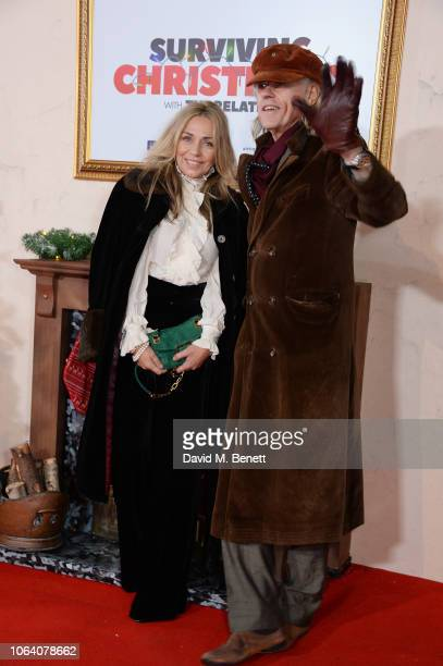 Jeanne Marine and Sir Bob Geldof attend the World Premiere of Surviving Christmas With The Relatives at Vue West End on November 21 2018 in London...