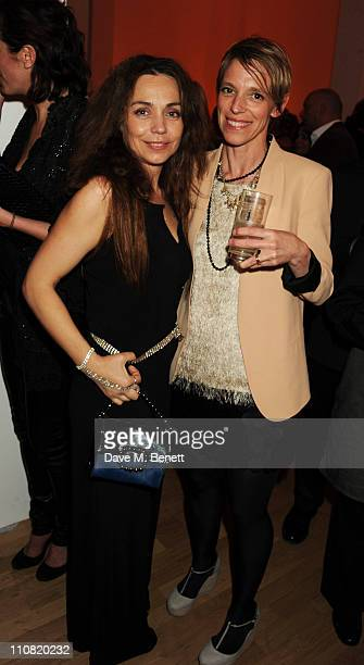 Jeanne Marine and Tiphaine de Lussy attend the TOD'S Art Plus Drama Party at the Whitechapel Gallery on March 24, 2011 in London, England.