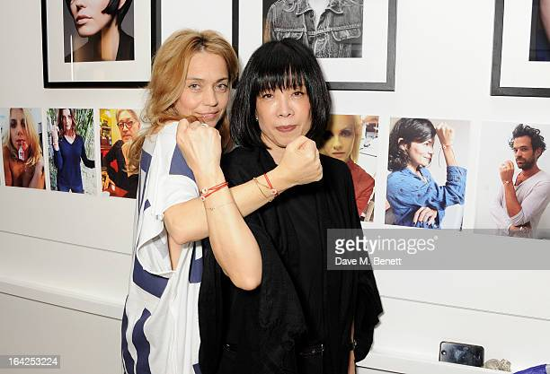 Jeanne Marine and Yukiko Massato attend a Tsunami relief fundraiser hosted by Jeanne Marine at Massato London on March 21 2013 in London England