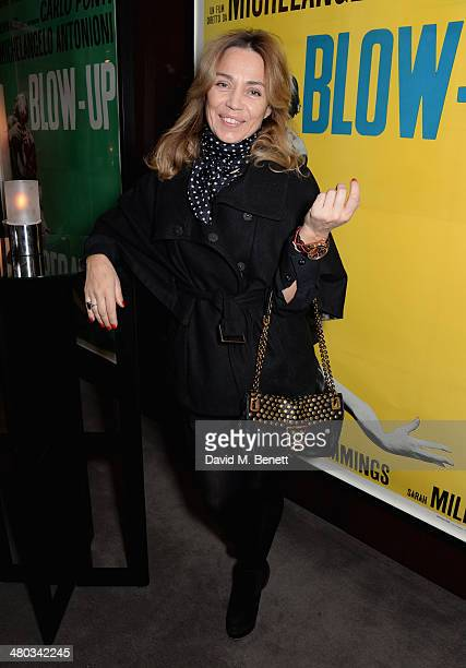 Jeanne Marine attends a private screening of The Gun The Cake and The Butterfly hosted by director Amanda Eliasch at the Bulgari Hotel on March 24...
