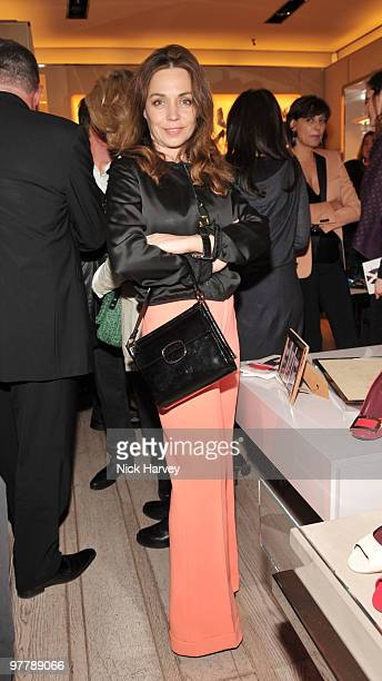 Jeanne Marine attends the cocktail party for the launch of the 'Miss Viv' handbag collection by Roger Vivier on March 16 2010 in London England