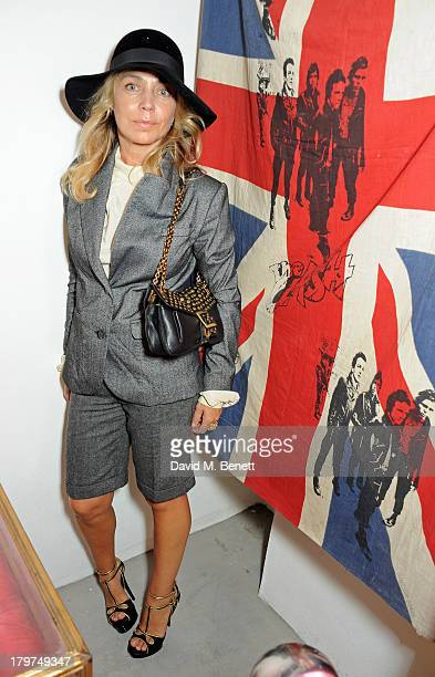 Jeanne Marine attends the launch of 'Black Market Clash' an exhibition of personal memorabilia and items curated by original members of The Clash at...