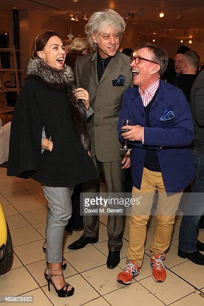 Jeanne Marine Bob Geldof and Jasper Conran attend the launch of Conran Italia at The Conran Shop on March 19 2015 in London England