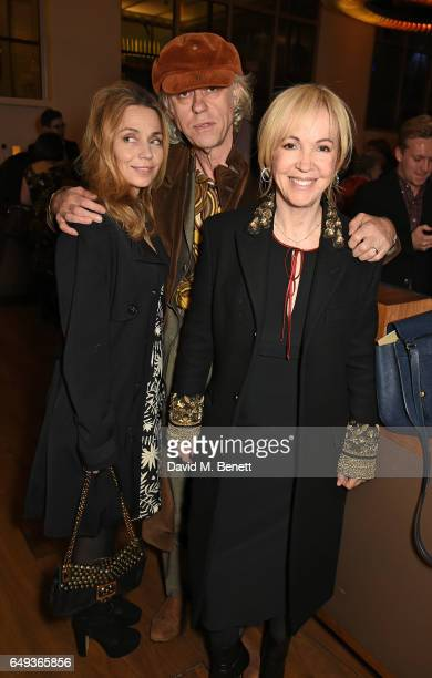Jeanne Marine Bob Geldof and Sally Greene attend the press night after party for The Old Vic's production of 'Rosencrantz Guildenstern Are Dead' at...
