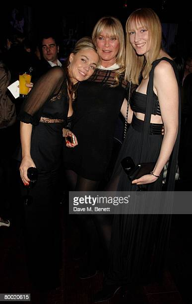 Jeanne Marine Deborah Leng and Jade Parfitt attend the launch party of the Dom Perignon OEnotheque 1995 hosted by Dom Perignon and Claudia Schiffer...