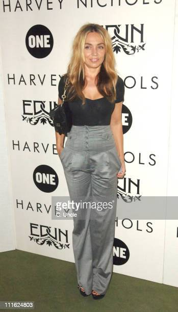 Jeanne Marine during Edun One Launch Party at Harvey Nichols in London Great Britain
