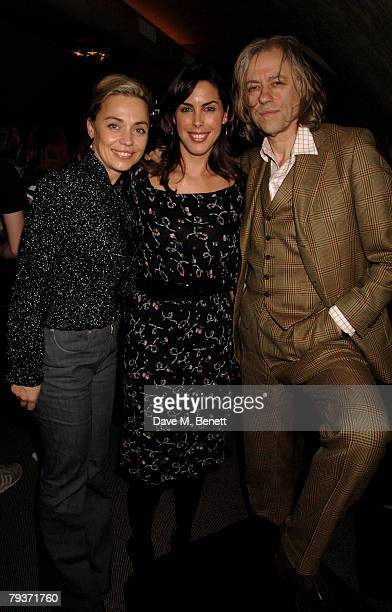 Jeanne Marine Jessica de Rothschild and Bob Geldof attend the after party following the press night of The Lover/The Collection at the Adam Street...