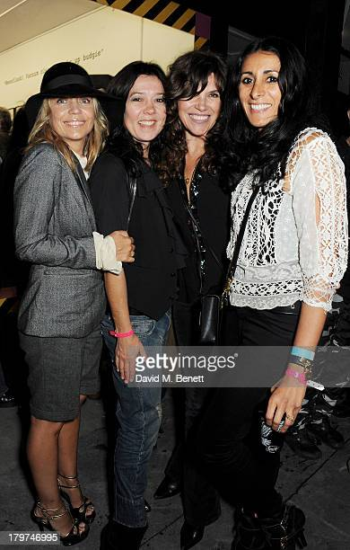 Jeanne Marine Katy England Jess Morris and Serena Rees attend the launch of 'Black Market Clash' an exhibition of personal memorabilia and items...