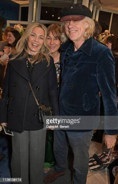 Jeanne Marine Lulu Hutley and Sir Bob Geldof attend the Bell Hutley Homeware Collection launch at Baar Bass on February 28 2019 in London England