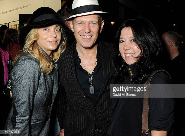Jeanne Marine Paul Simonon and Katy England attend the launch of 'Black Market Clash' an exhibition of personal memorabilia and items curated by...