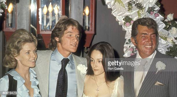 Jeanne Martin, Actors Dean Paul Martin and Olivia Hussey, and Actor/Singer Dean Martin attend the Wedding of Dean Paul Martin and Olivia Hussey on...