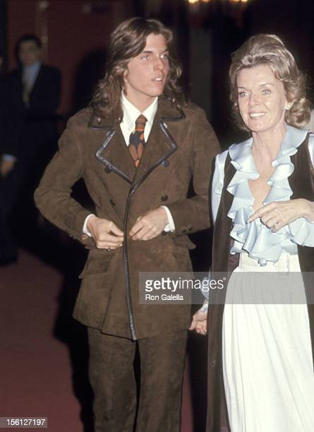 Jeanne Martin and son Ricci Martin attend the Wedding of Dean Paul Martin and Olivia Hussey on April 17 1971 in Las Vegas Nevada