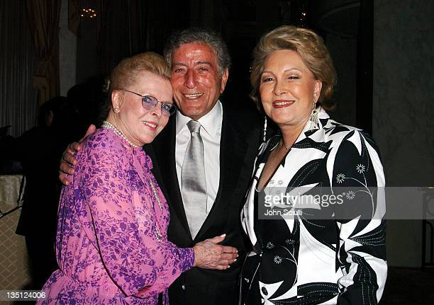 Jeanne Martin, Tony Bennett and Ginny Mancini during The Larry King Cardiac Foundation Gala at The Regent Beverly Wilshire Hotel in Beverly Hills,...